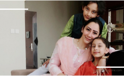 Maanayata Dutt observes World Children's Day happily with her twins