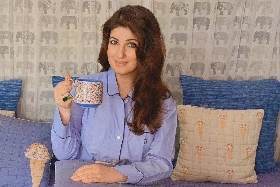 "Mrs. Funny bones – Twinkle Khanna takes a dig at herself for writing ""Pyjamas are Forgiving."""