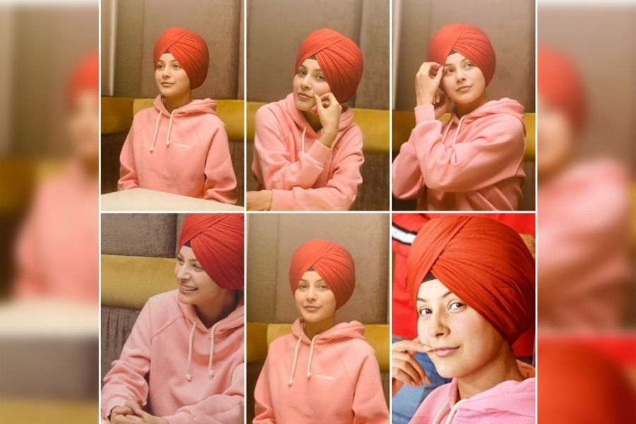 Shehnaz Gill's red turbaned picture leaves her fans asking for more