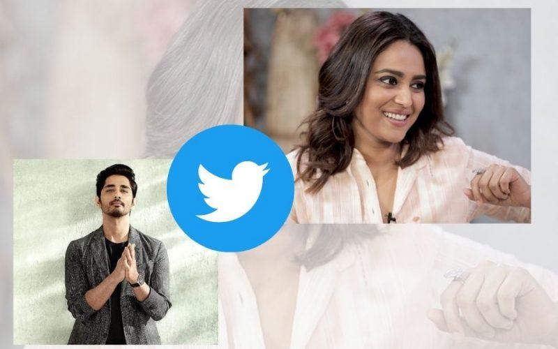 Actor Swara Bhaskar and Siddharth engage in banter on Twitter