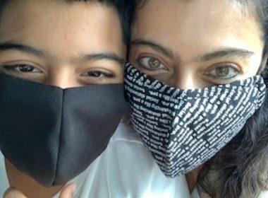 Kajol and her son Yug make a masked appearance on social media